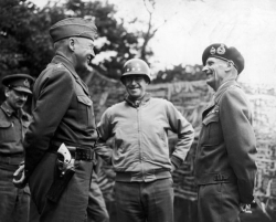 Generals, Patton, Bradley, & Montgomery early August 1944